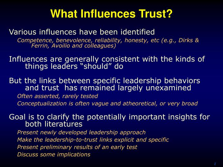 What influences trust