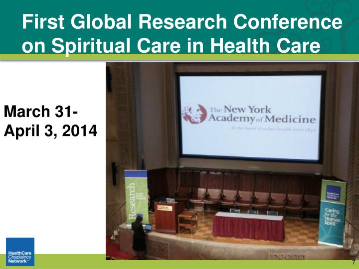 First Global Research Conference on Spiritual Care in Health Care