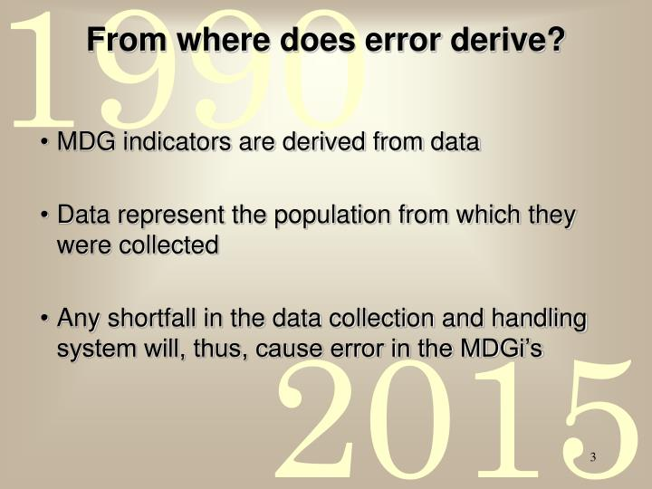 From where does error derive