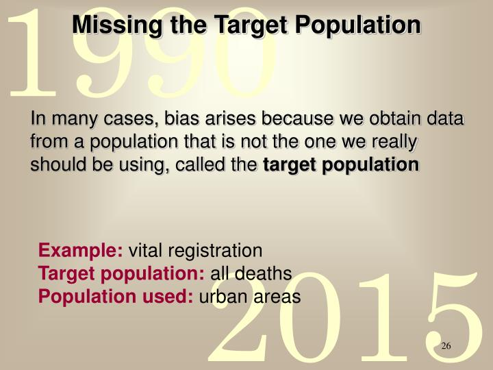 Missing the Target Population