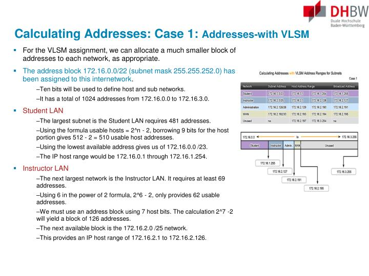 Calculating Addresses: Case 1: