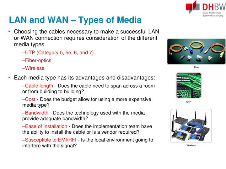 LAN and WAN –