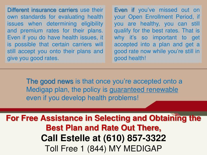 Different insurance carriers