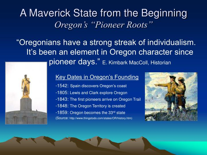 Key Dates in Oregon's Founding