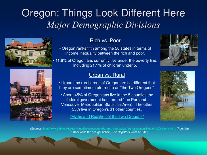 Oregon: Things Look Different Here