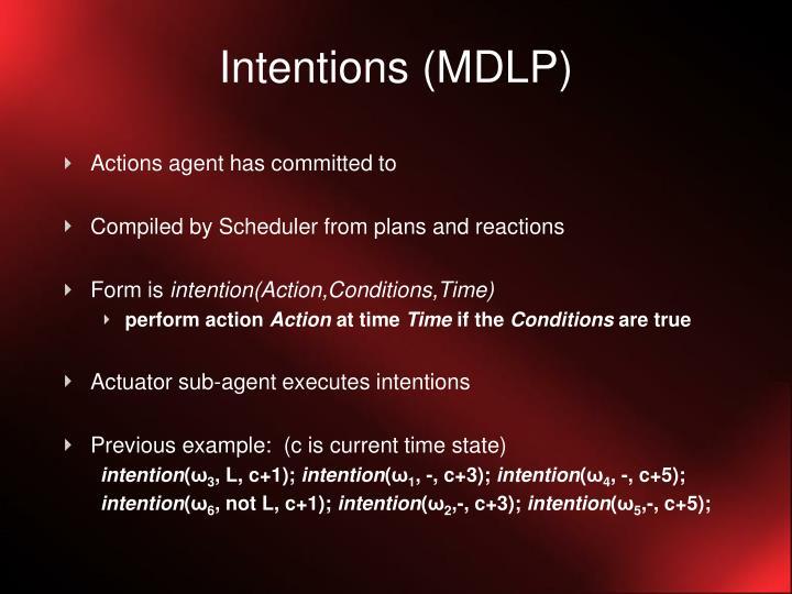 Intentions (MDLP)