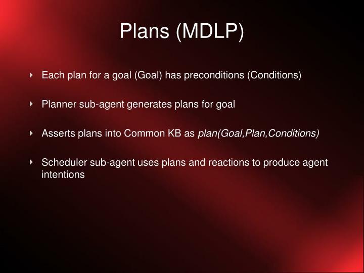 Plans (MDLP)