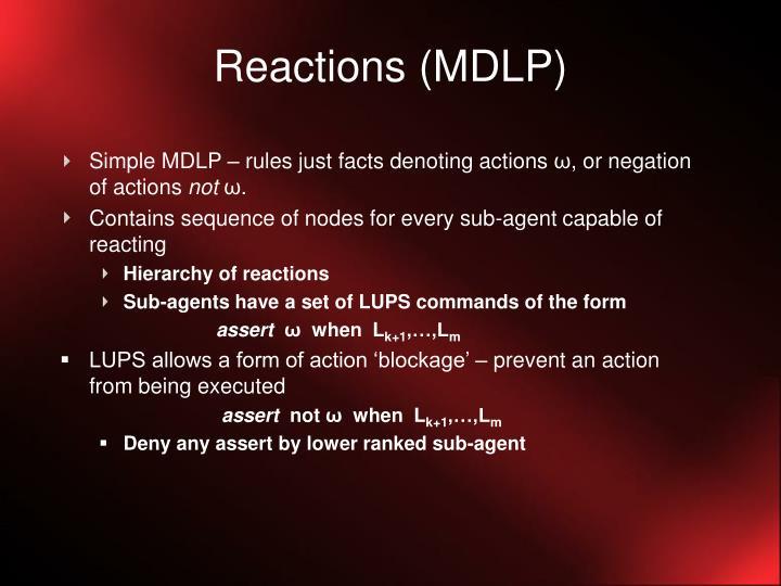Reactions (MDLP)