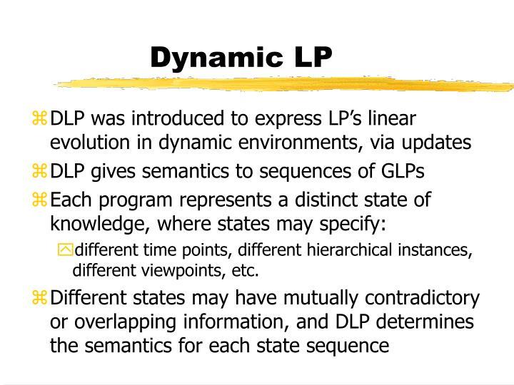 Dynamic LP