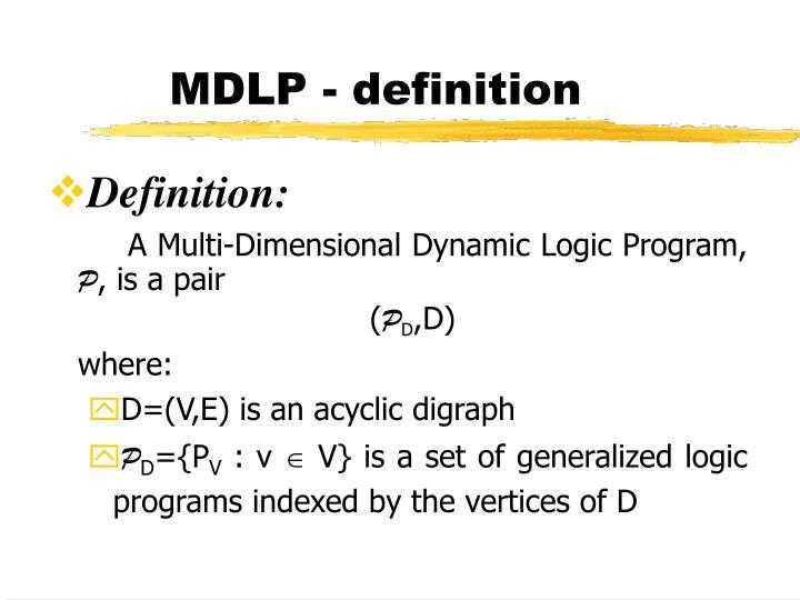 MDLP - definition