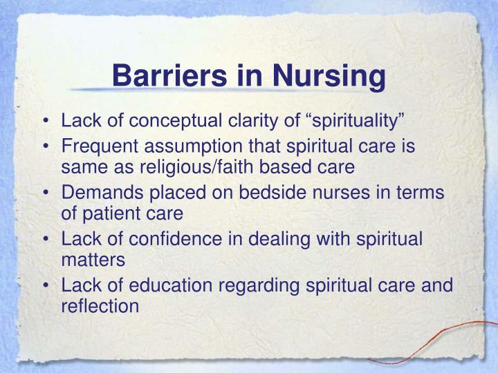 Barriers in Nursing