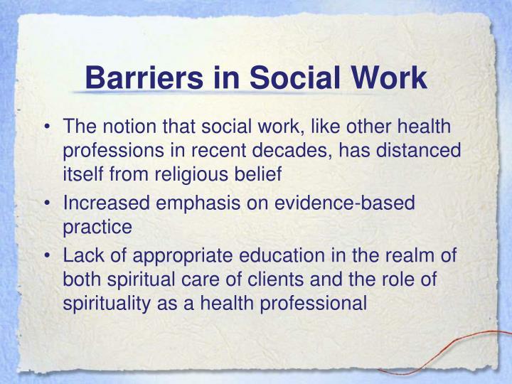 Barriers in Social Work