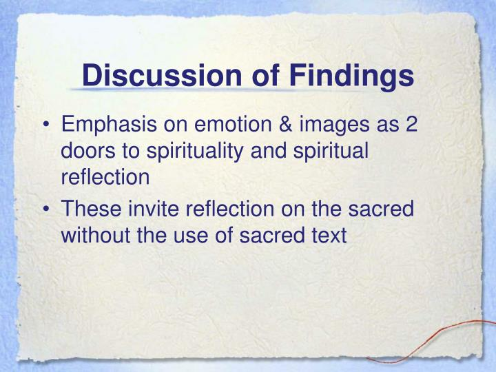 Discussion of Findings