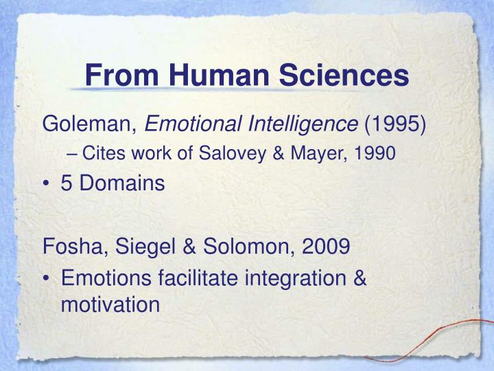 From Human Sciences