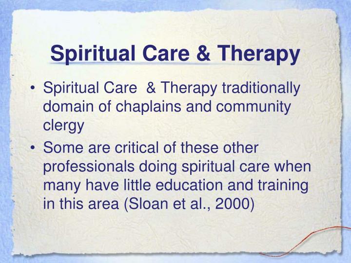 Spiritual Care & Therapy