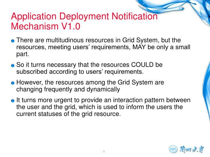 Application Deployment Notification Mechanism V1.0