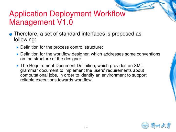 Application Deployment Workflow Management V1.0