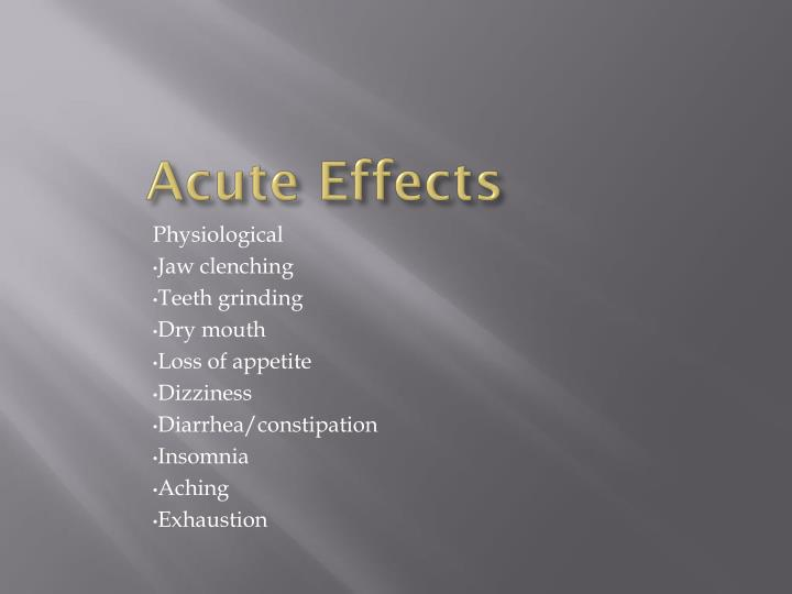 Acute Effects