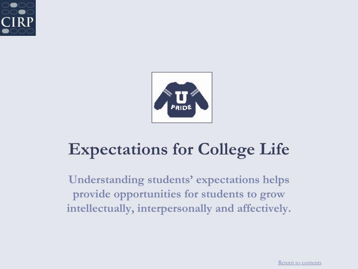 Expectations for College Life