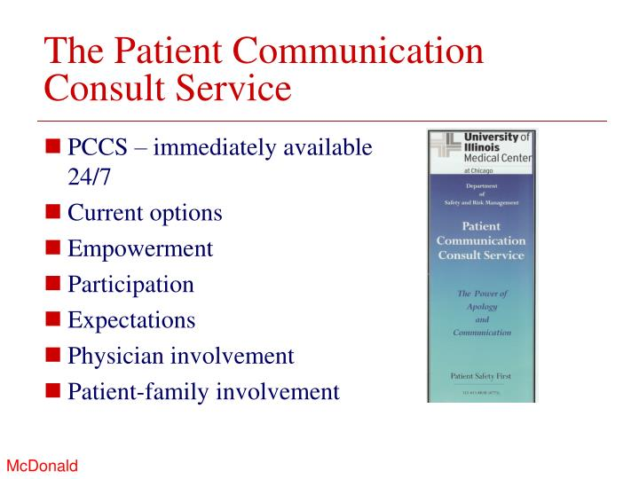 The Patient Communication Consult Service