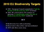 2010 eu biodiversity targets