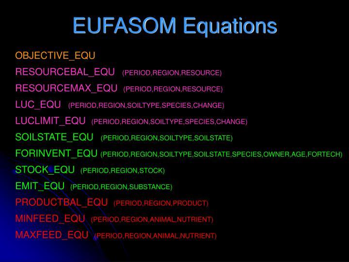 EUFASOM Equations