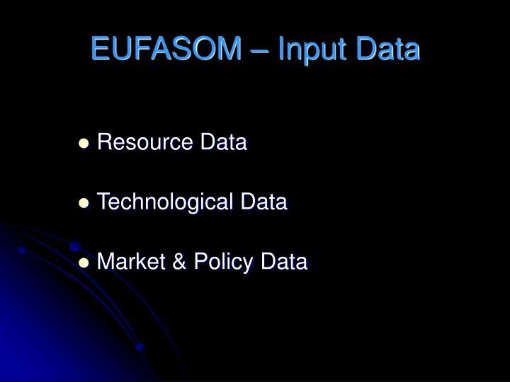 EUFASOM – Input Data