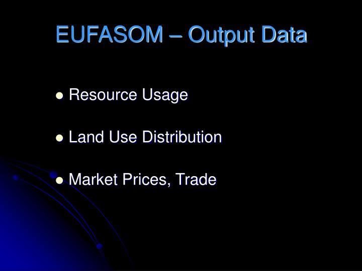 EUFASOM – Output Data
