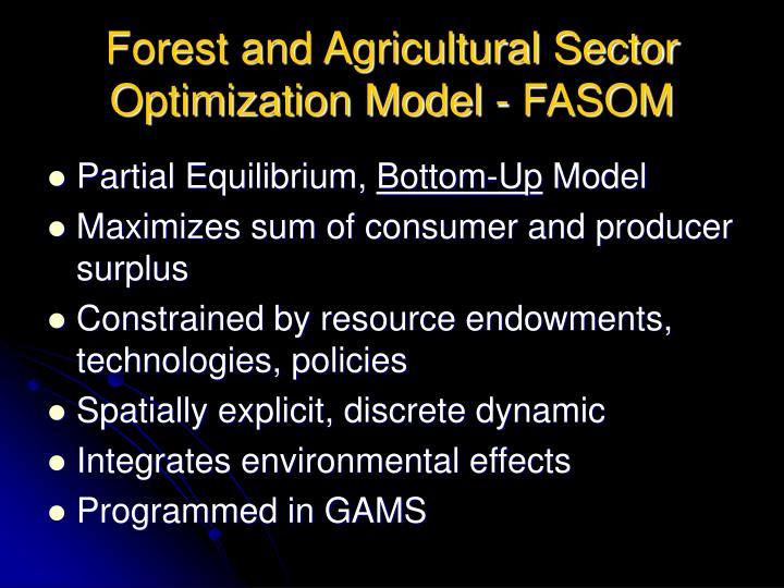 Forest and Agricultural Sector Optimization Model - FASOM