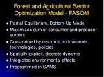 forest and agricultural sector optimization model fasom