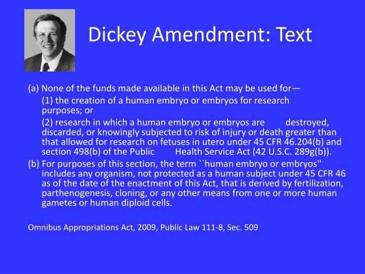 Dickey Amendment: Text