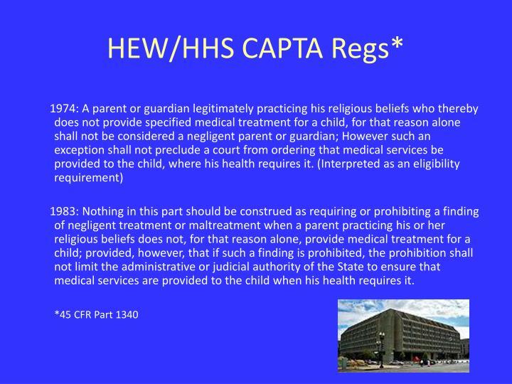 HEW/HHS CAPTA Regs*