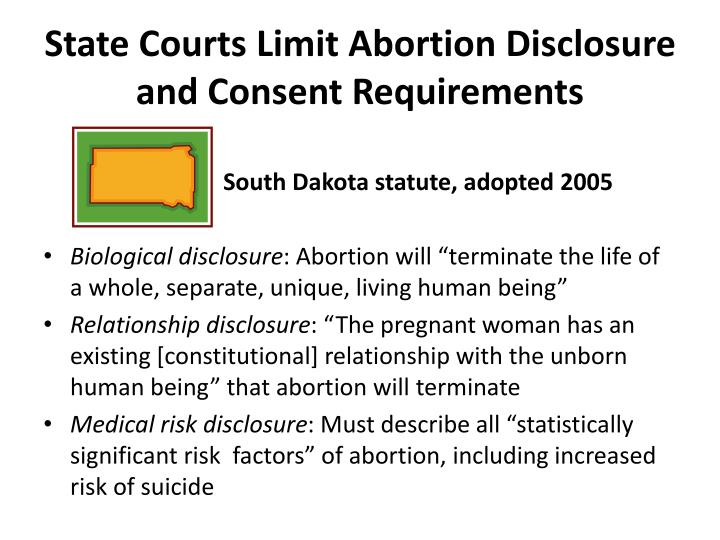 State Courts Limit Abortion Disclosure and Consent Requirements