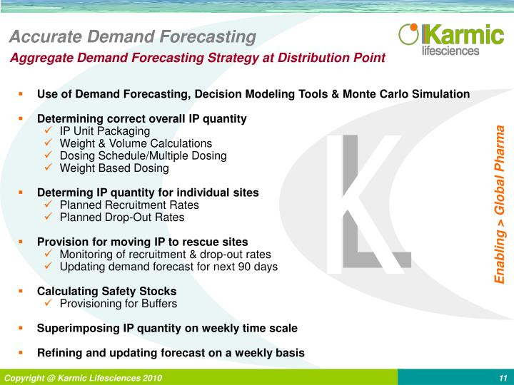 Accurate Demand Forecasting