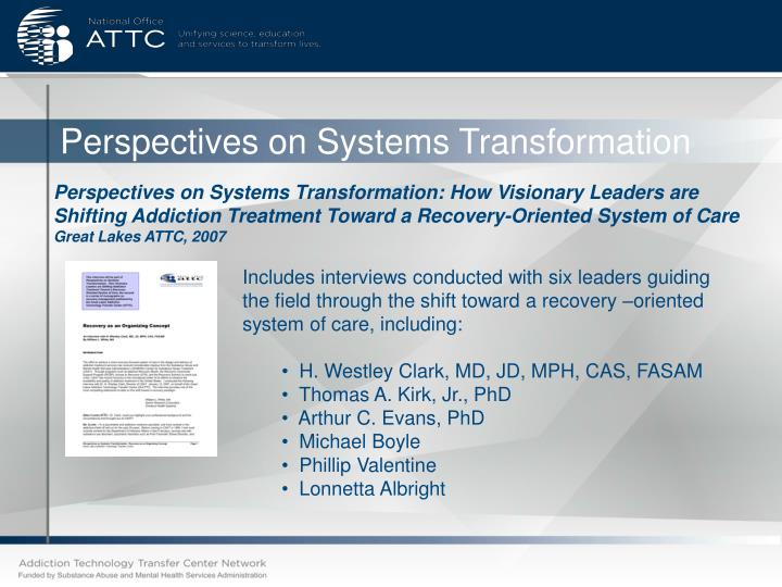 Perspectives on Systems Transformation