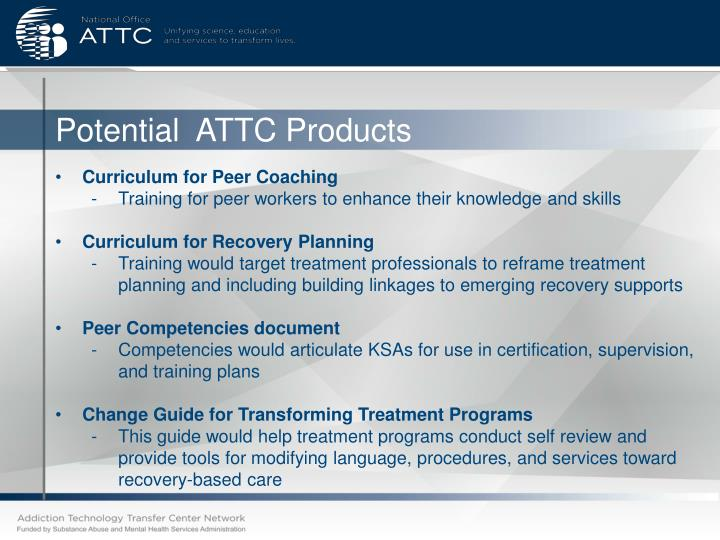 Potential  ATTC Products