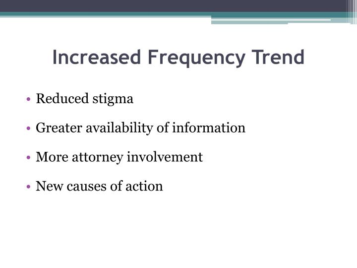 Increased Frequency Trend