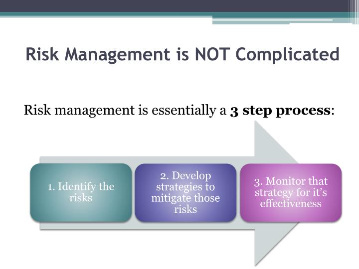 Risk Management is NOT Complicated