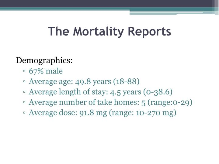 The Mortality Reports