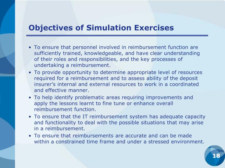 Objectives of Simulation Exercises