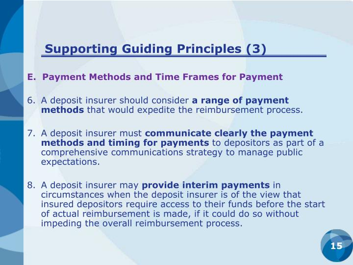 Supporting Guiding Principles (3)