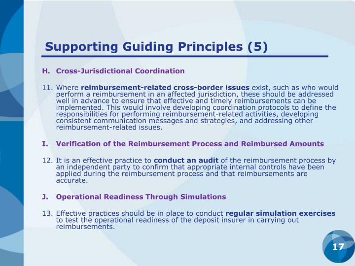 Supporting Guiding Principles (5)