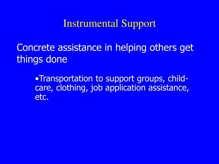 Instrumental Support