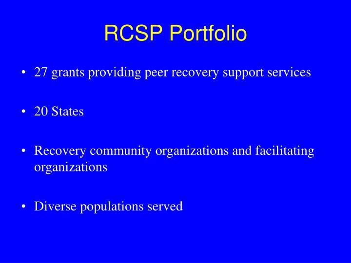RCSP Portfolio