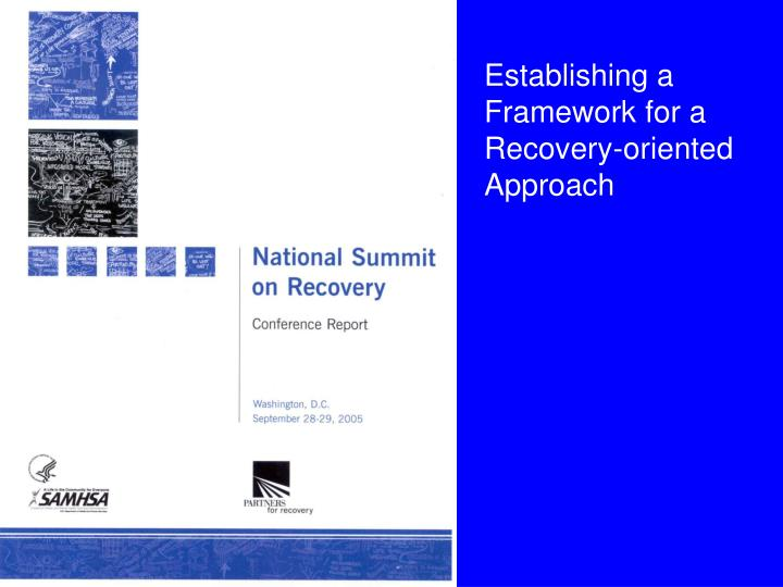 Establishing a Framework for a Recovery-oriented Approach