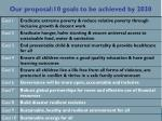 our proposal 10 goals to be achieved by 2030