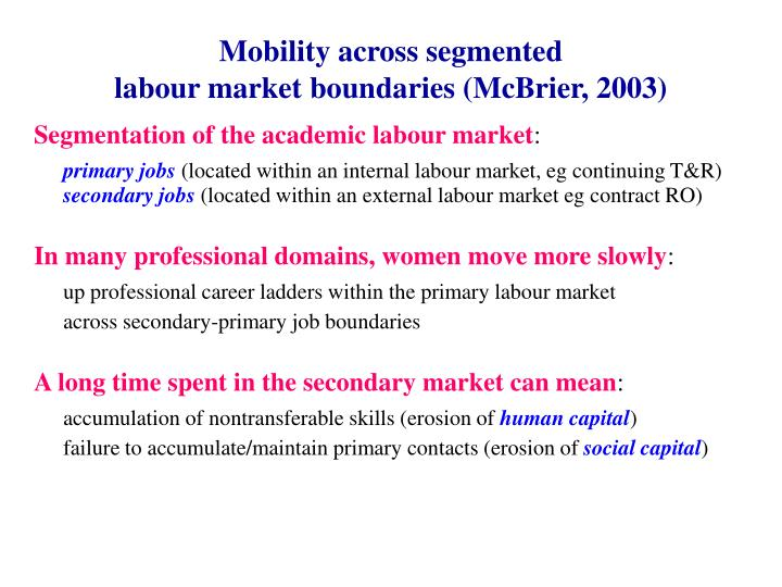 Mobility across segmented