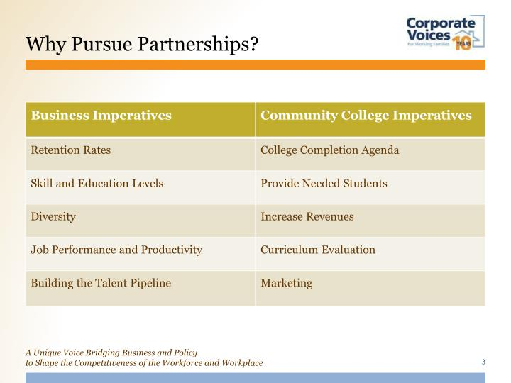 Why Pursue Partnerships?