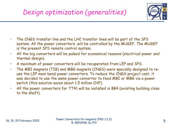 Design optimization (generalities)