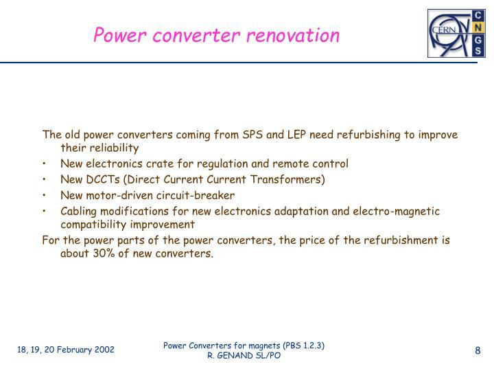 Power converter renovation